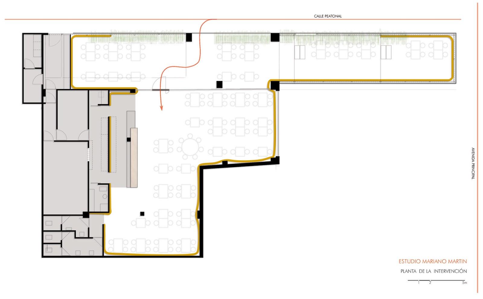 Blog del estudio mariano martin planos y dibujos de un for Planos para restaurantes