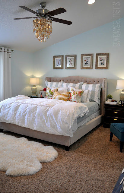 Master Bedroom Makeover suburbs mama: master bedroom makeover