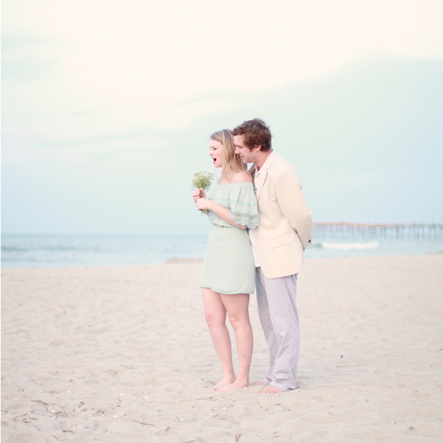 surprise styled engagement shoot