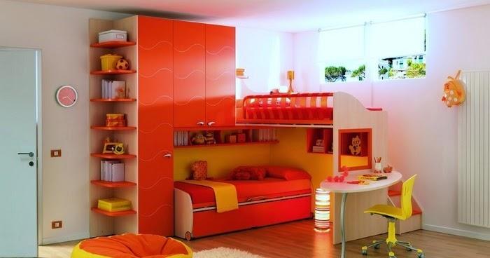 Dormitorios con muebles naranjas para ni os dormitorios - Dormitorios infantiles tematicos ...