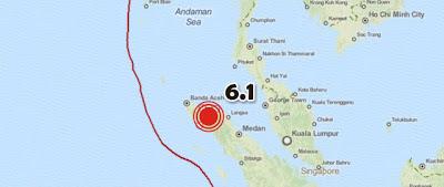 TERREMOTO 6,1 GRADOS SACUDE LA ISLA DE SUMATRA, EN INDONESIA, EL 02 DE JULIO 2013