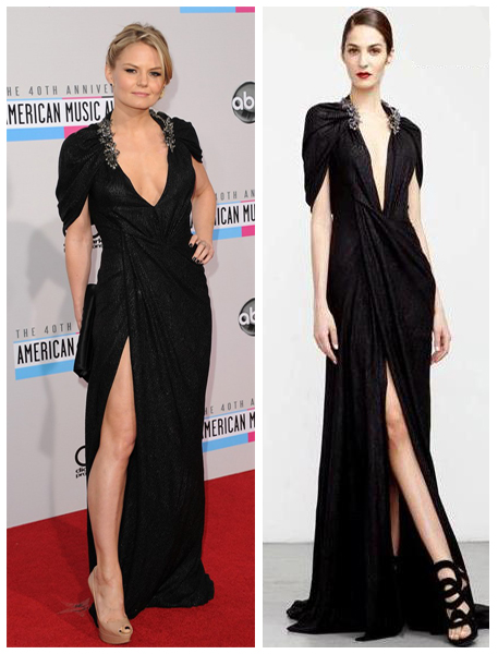 a filha do chefe jennifer morisson vestido fenda decote american music awards 2012