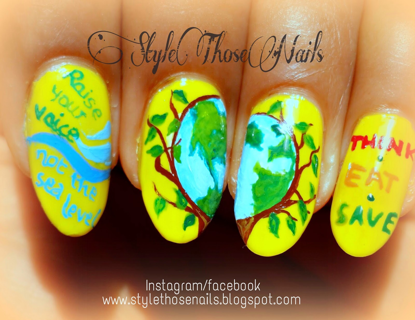 Style Those Nails: World Environment Day 2014 Nailart- Raise your ...