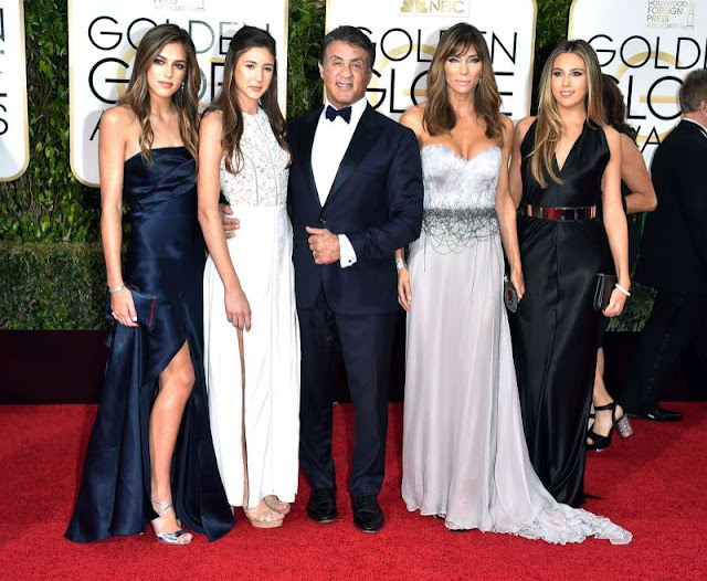 Sylvester Stallone brought his entire gorgeous family on the Golden Globes 2016 red carpet