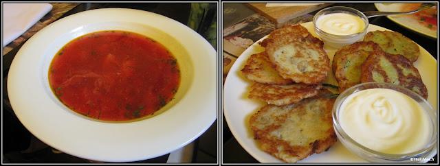 borscht et deruny Kiev restaurant Spotykach gastronomie sovietique  16 Volodymyrska, Kiev 01601, Ukraine