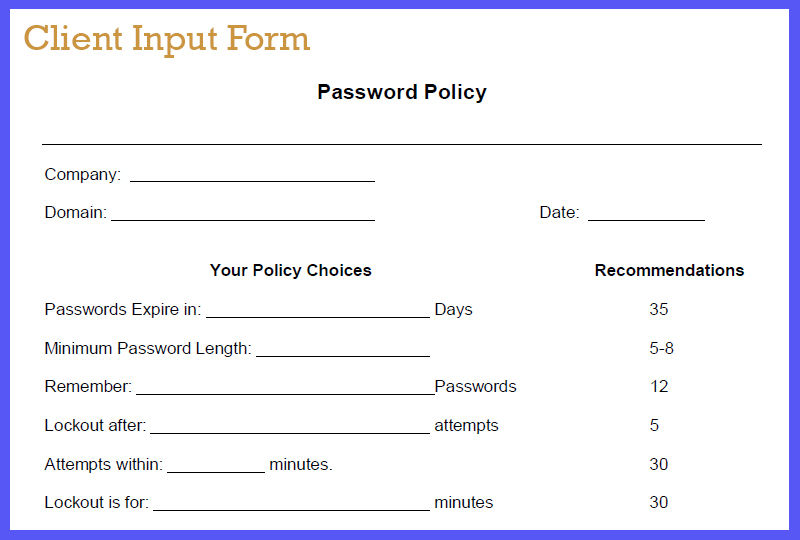 Sop Friday Prudent Password Policies  The Channelpro Network