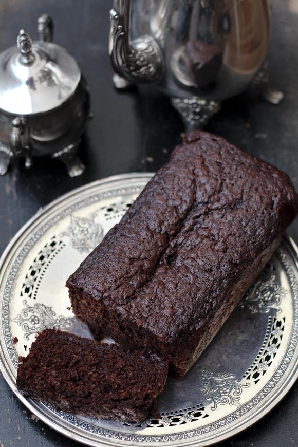 dark chocolate ginger loaf
