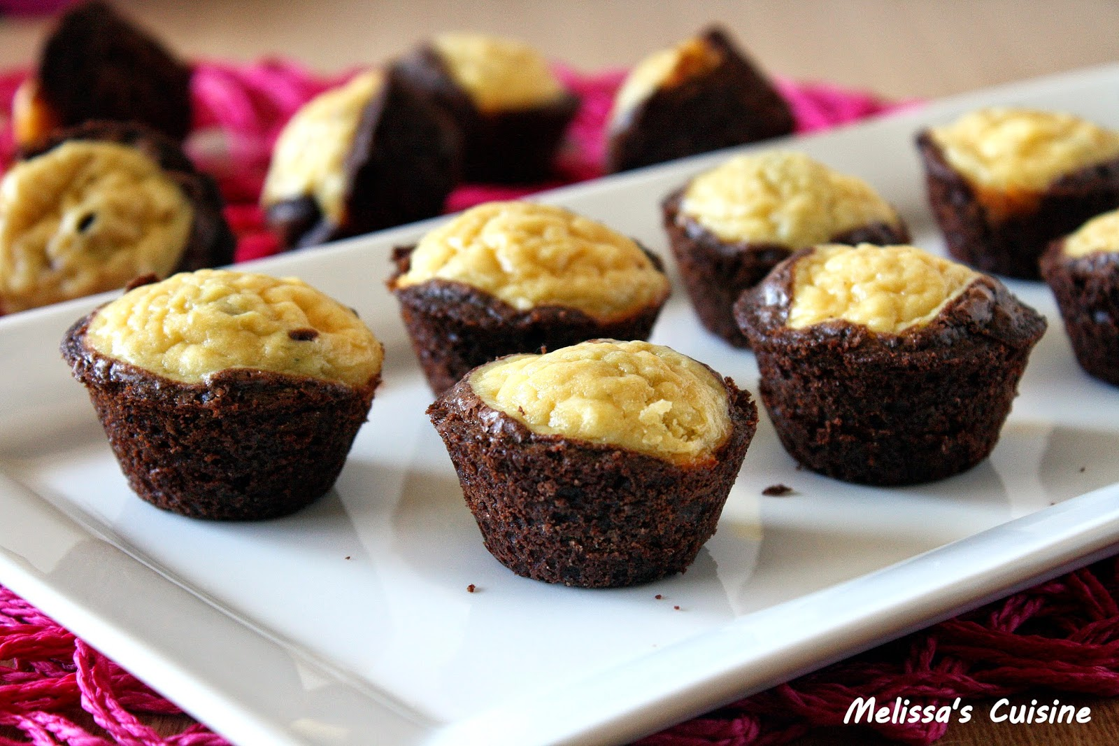 Melissa's Cuisine: Bite-sized Cheesecake Brownies