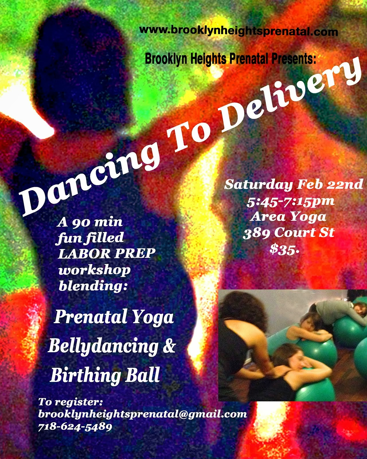 Feb 22nd  DANCING TO DELIVERY Workshop On Court St