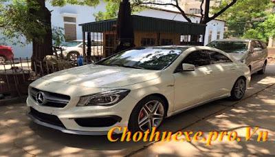 Cho thuê xe cưới màu trắng Mercedes CLA đời mới