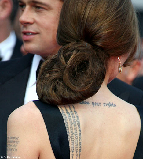 angelina tattoos