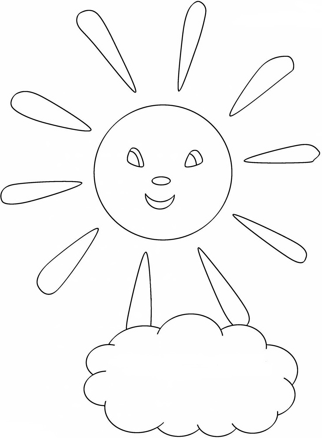 Раскраска солнце - 9b5