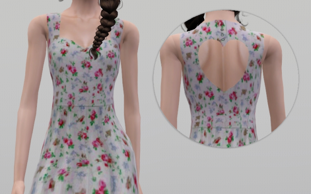 Scuba Heart Dress for Teen & Adult Females by Sims In Spring
