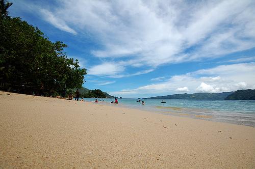 White Sand Beach in Lampung