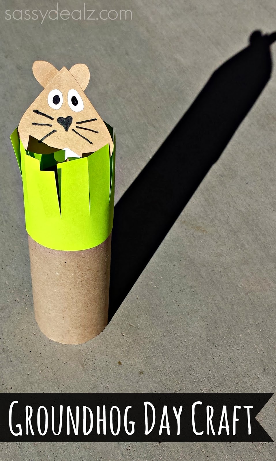 groundhog toilet paper roll craft