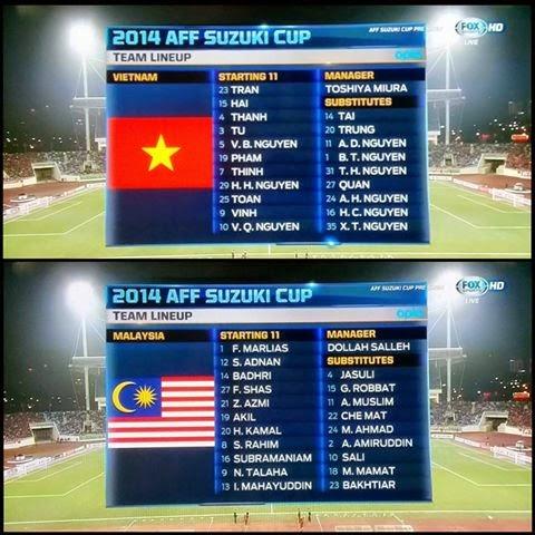 Keputusan Malaysia Vs Vietnam 11 Disember 2014 Piala AFF Suzuki