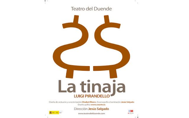 cartel anunciador de la obra la tinaja, de Pirandello en la casa de la Cultura de Illescas