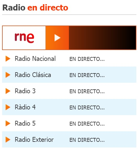 RTVE Radio en directo