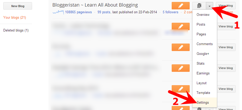 delete blogger blogs