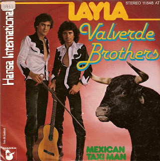 VALVERDE BROTHERS - Layla / Mexican Taxi Man ,Vinyl 7 \