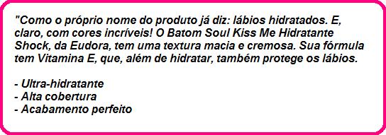 Cereja Cherie - Batom Eudora Kiss me