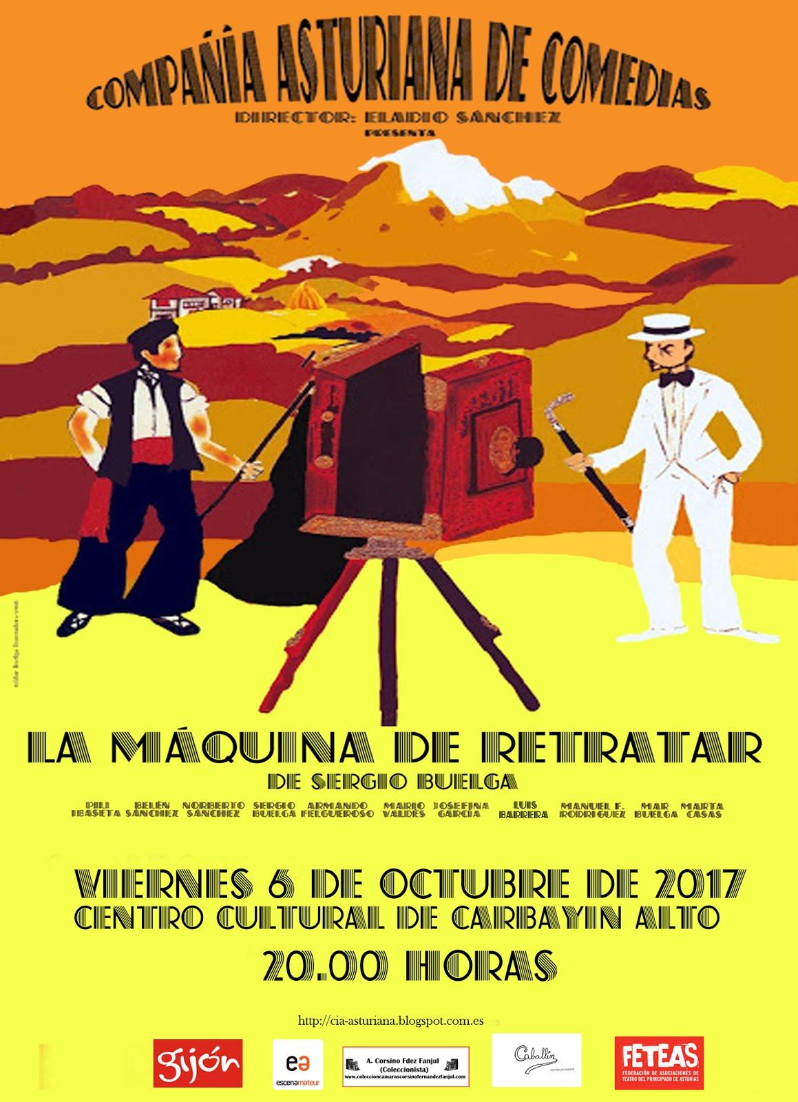 6 de octubre.Centro Cultural de Carbayín alto. 20.00 horas