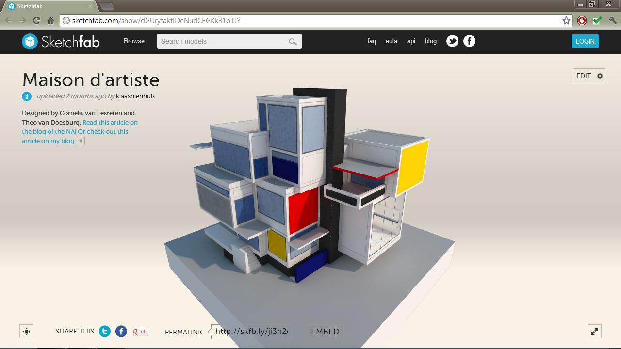 Comparte tu modelo 3D interactivo en la web | [ Arte+ ]