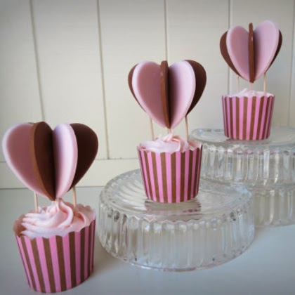 How To Make 'Heart Air Balloon' cupcakes