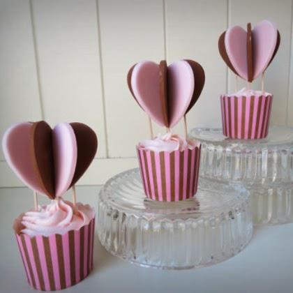 How To Make 'Heart Air Balloon' cupcakes