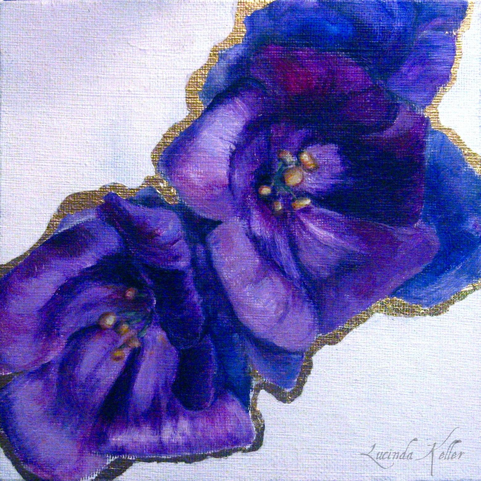 Cobalt Violet Rumi And Flowers