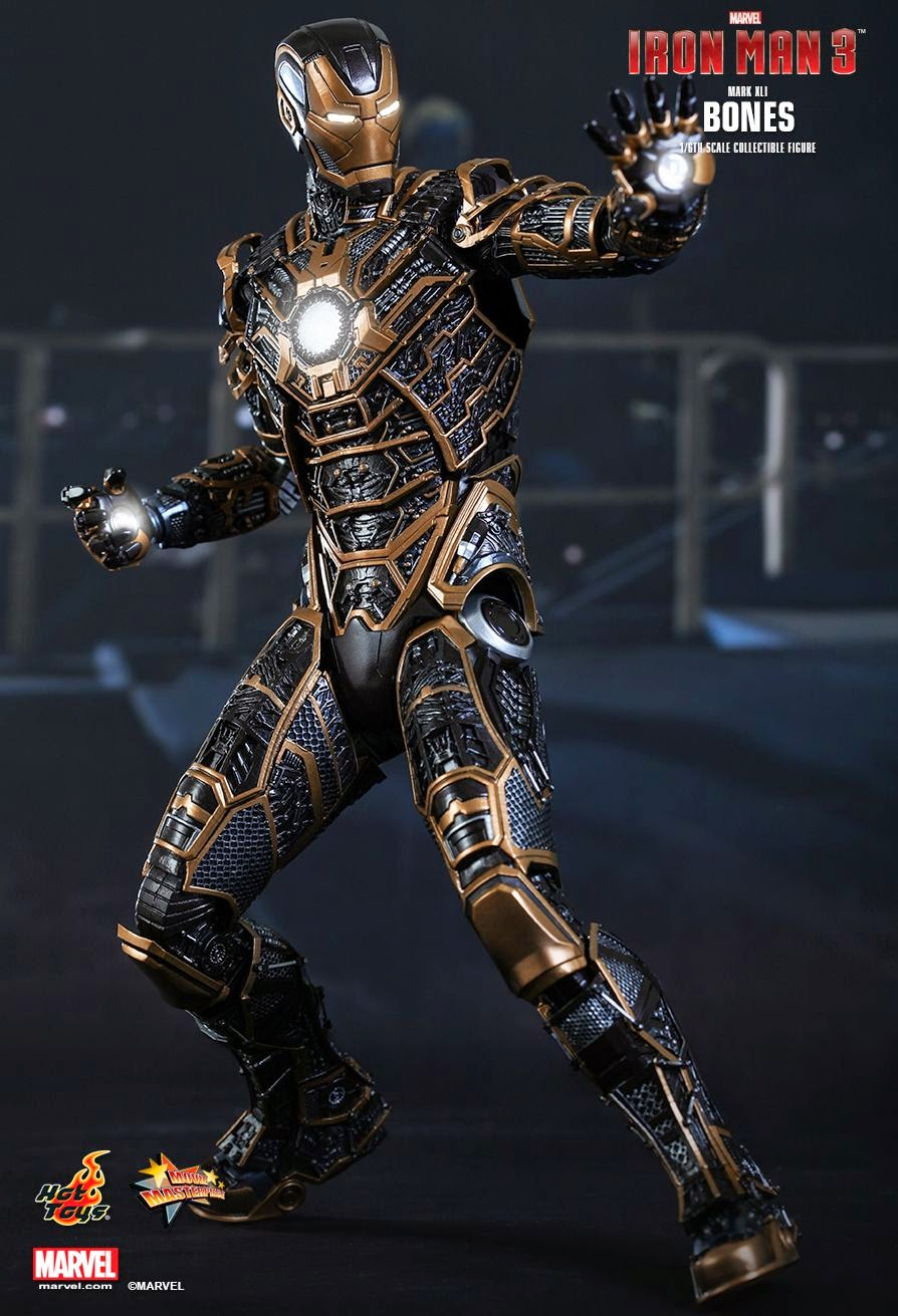 Toyhaven  Incoming  Hot Toys  U0026quot Iron Man 3 U0026quot  1  6 Scale Skeleton Suit Mark Xli  U0026quot Bones U0026quot  Collectible