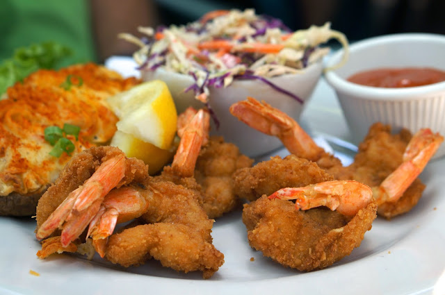 SHADY GROVE, AUSTIN TEXAS, GULF COAST FRIED SHRIMP PLATTER