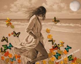 """""""Borboleta parece flor que o vento tirou pra dançar."""""""