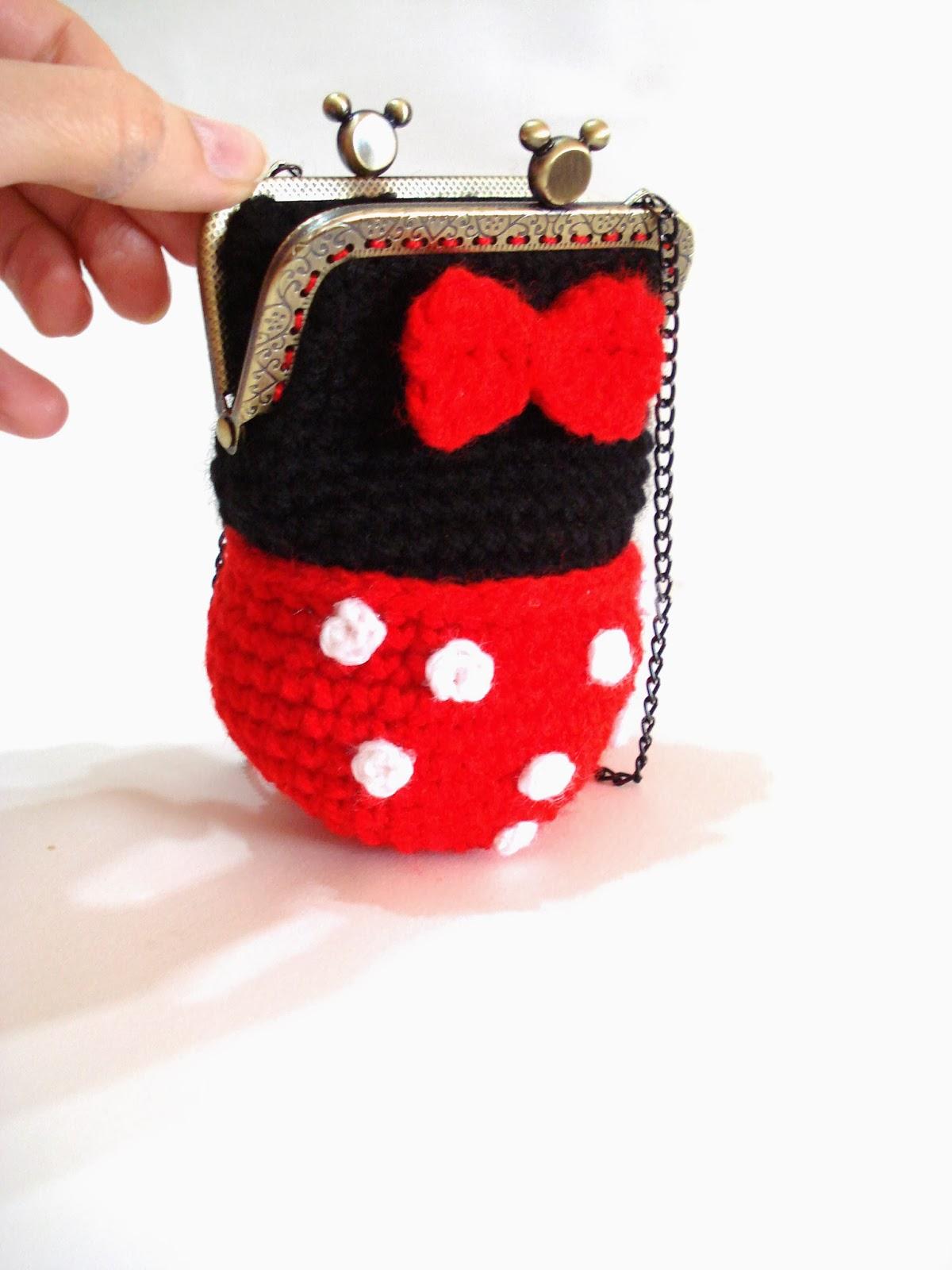 Free Crochet Mickey Mouse Purse Pattern : AllSoCute Amigurumis: Minnie Mouse Crochet Girl Purse, Bag ...
