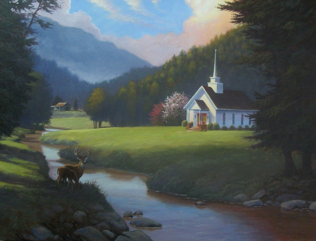 Little Country Church Painting