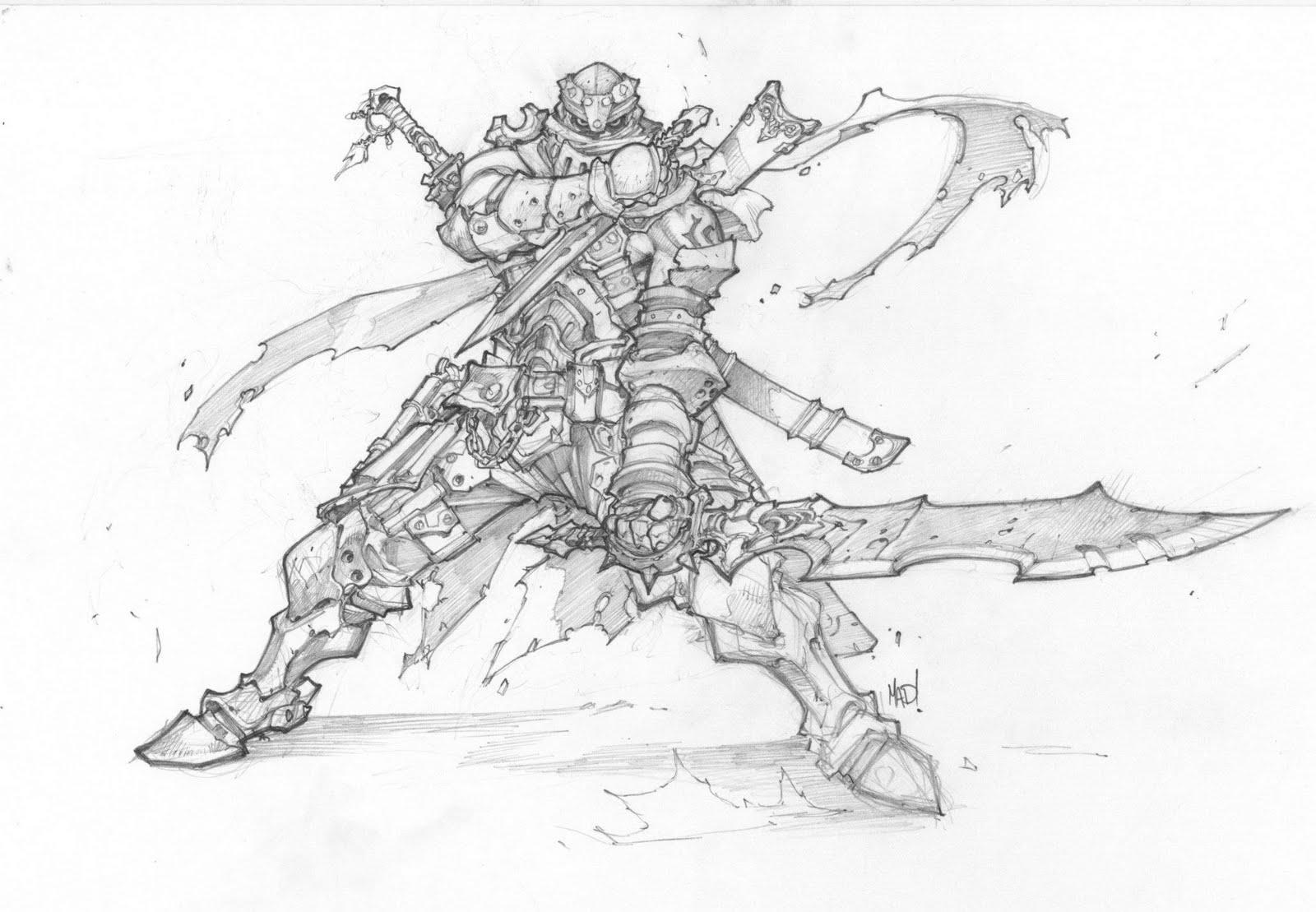 joe madureira   fansite  battle chasers anthology sketches