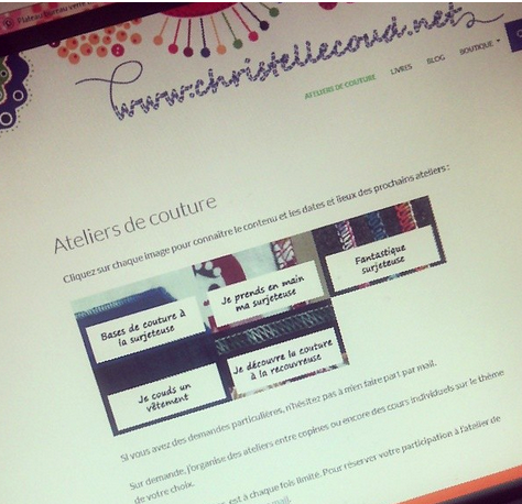 Christelle beneytout le blog le planning des ateliers for Atelier couture a nantes