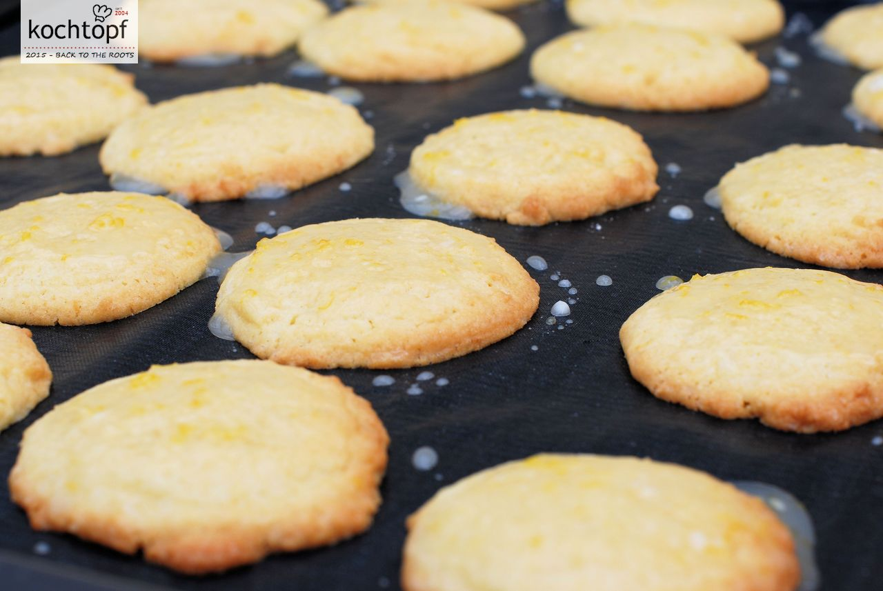 Glasierte Zitronencookies