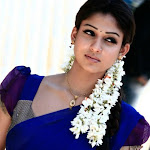 Nayantara Cute in Blue Half Saree Pics