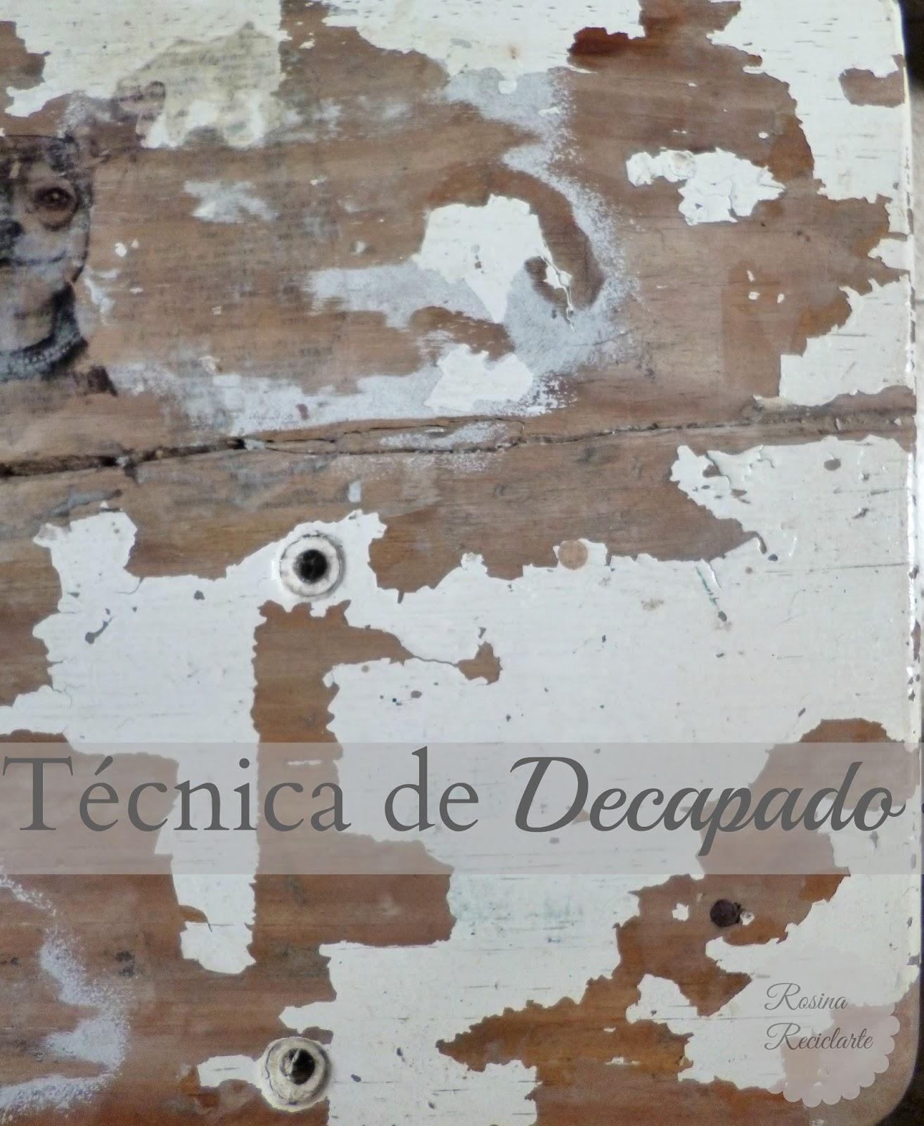 Reciclarte t cnicas de decapado - Decapado sobre madera ...