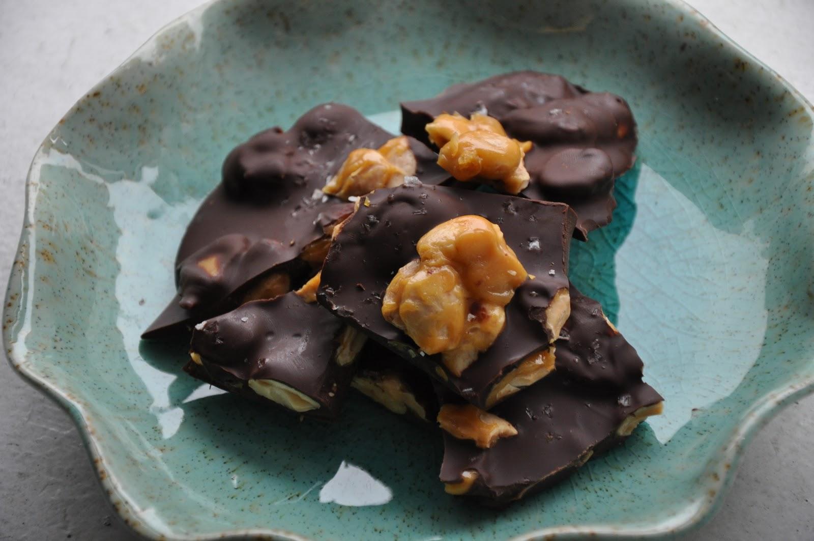 Slice of Rice: Chocolate Almond Bark with Sea Salt