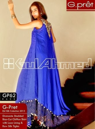 Gul Ahmed Royal Blue Dresses