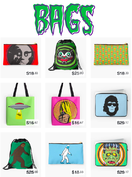 Tote Bags, Laptop Sleeves, Drawstrings and More!