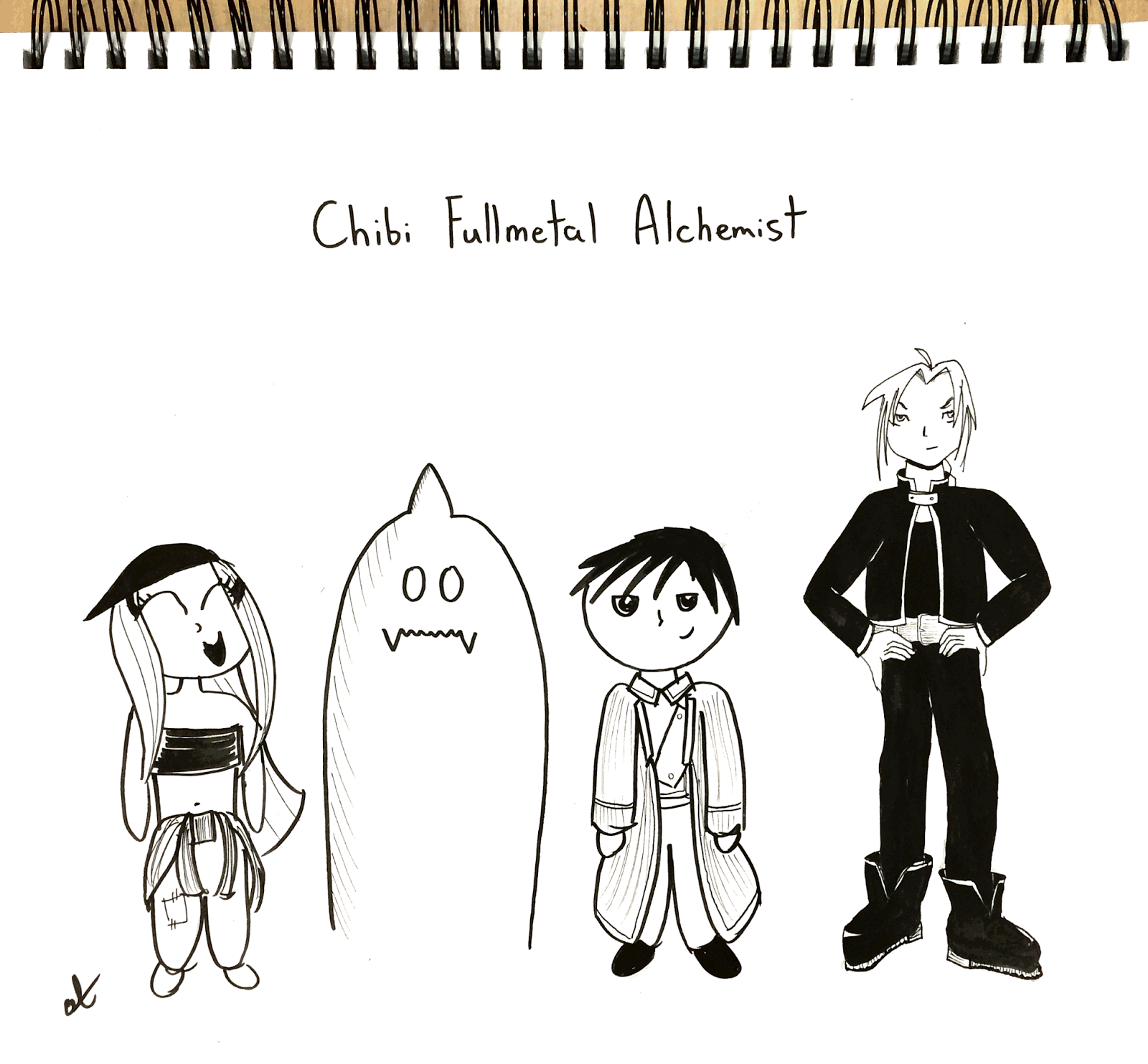 inktober samples annie tohill comic featuring characters from fullmetal alchemist