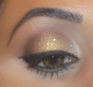 gold smokey reflect glitter