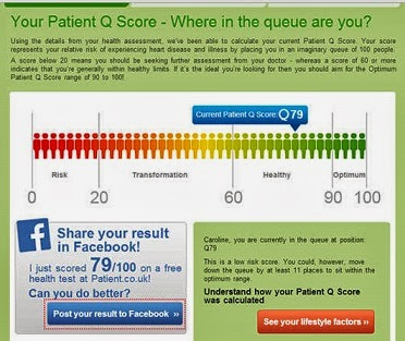 myhealth tool q score position