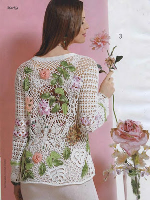 El Baul de Crochet y Telar: Patrones de Blusas en crochet Ruso