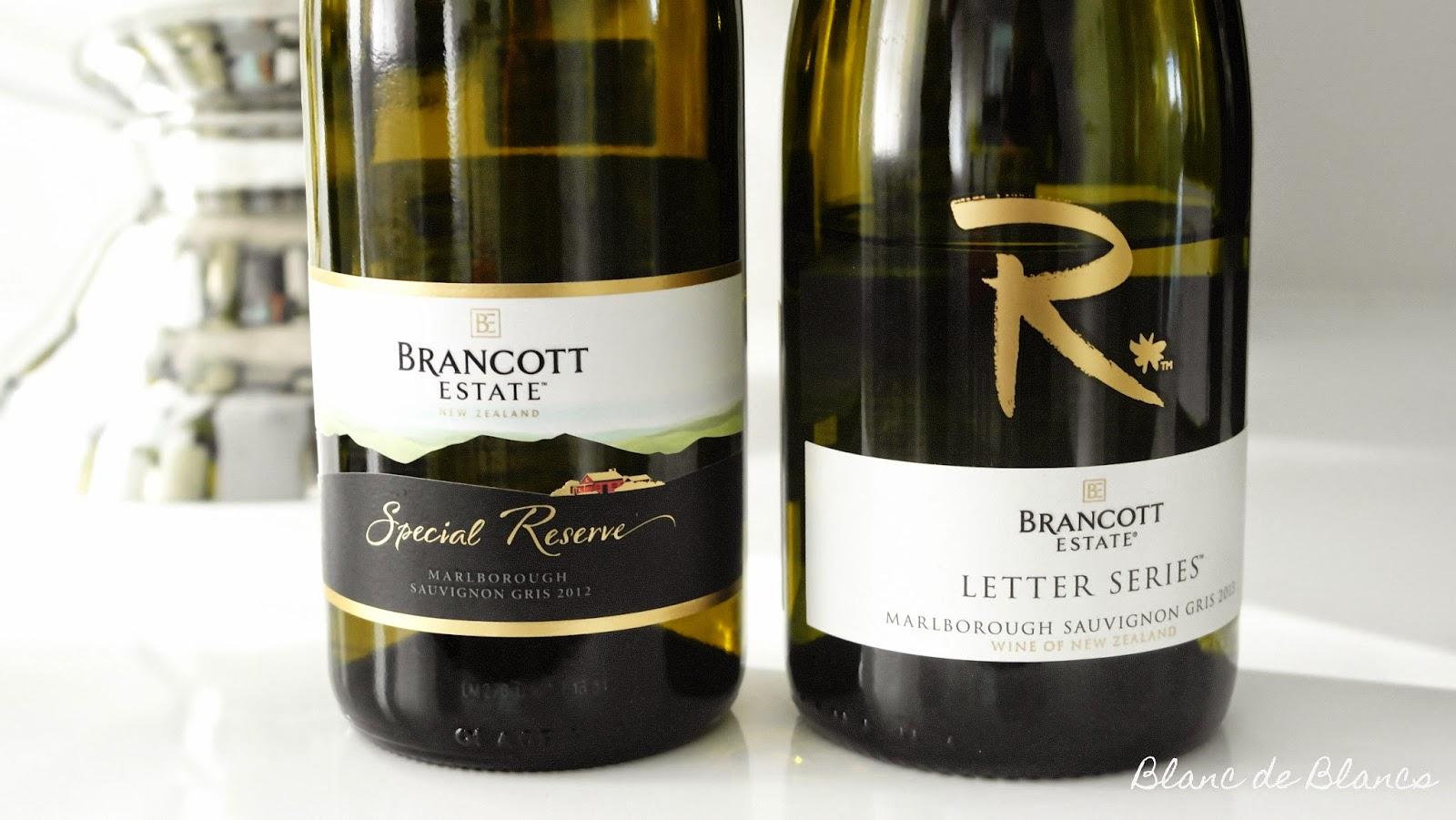 Estate Special reserve Sauvignon Gris ja Letter Series Sauvignon Gris - www.blanc deblancs.fi
