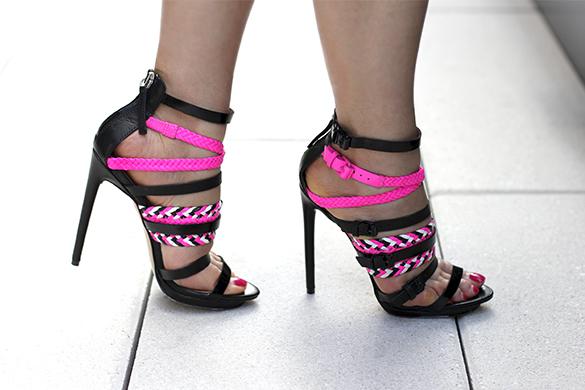Jessie Strappy Sandal Neon Pink