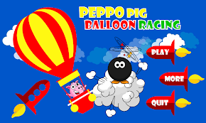 Peppo Pig Racing Balloon by Bijisoft